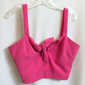New Cropped Strap Dressy  Pink Top